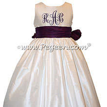 Champagne Pink Flower Girl Dresses with Topaz Swarovski Crystals - Fairytale Collection style 904