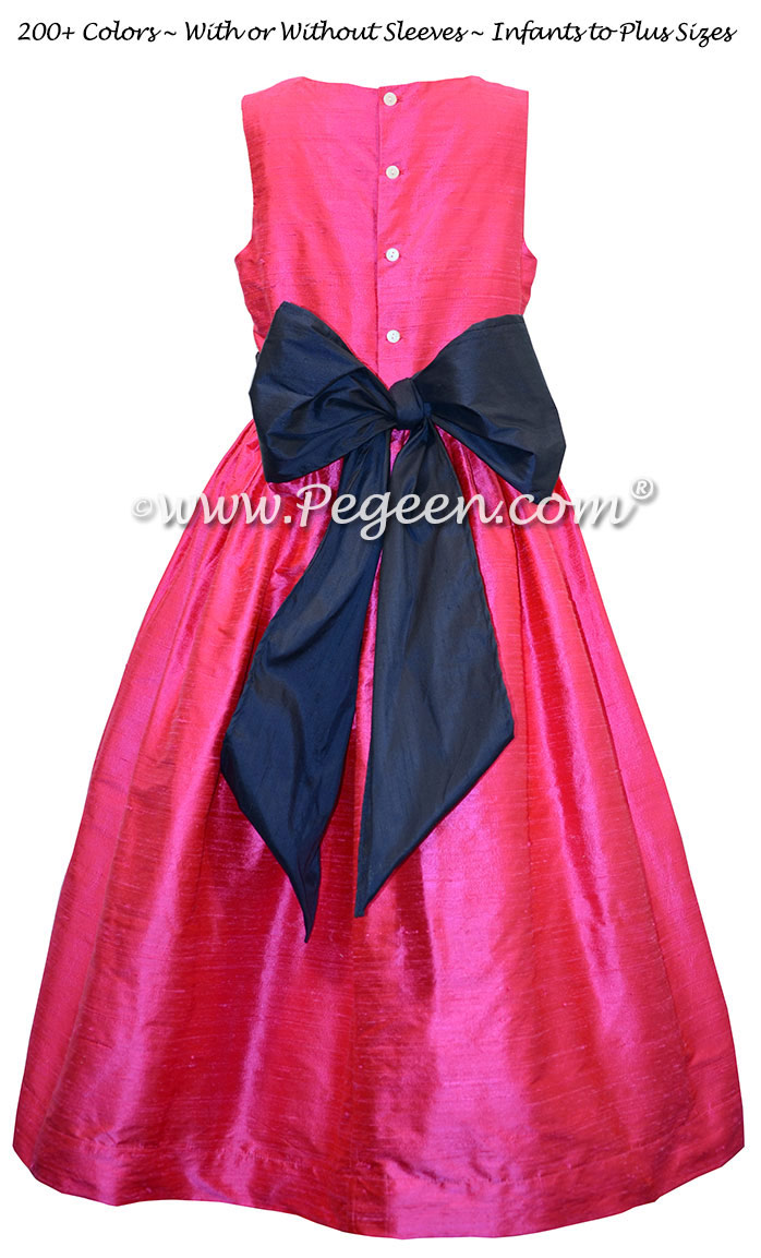 Hot Pink and Navy Blue Classic Style 398