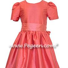 Lollipop Coral and Gumdrop Pink Jr. Bridesmaids Dresses