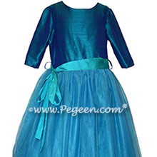 402 Peacock Jr Brudesmaids Tulle Dress