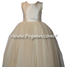 New Ivory Silk and Tulle Flower Girl Dresses