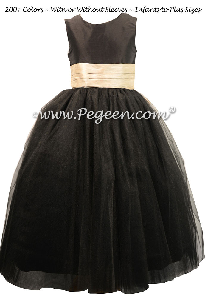 Black and Toffee ballerina style with layers and layers of tulle - Pegeen Couture Style 402