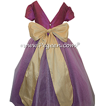 Thistle Purple and Pure Gold ballerina style with layers and layers of tulle - Pegeen Couture Style 402