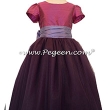 Periwinkle - Thistle and 1000 Nights ballerina style Flower Girl Dresses with layers and layers of tulle