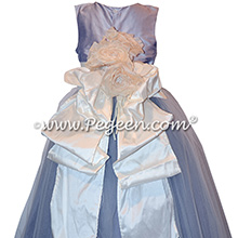 Lavender and New Ivory Flower Girl Dresses with Pegeen Signature Bustle  Style 402 | Pegeen