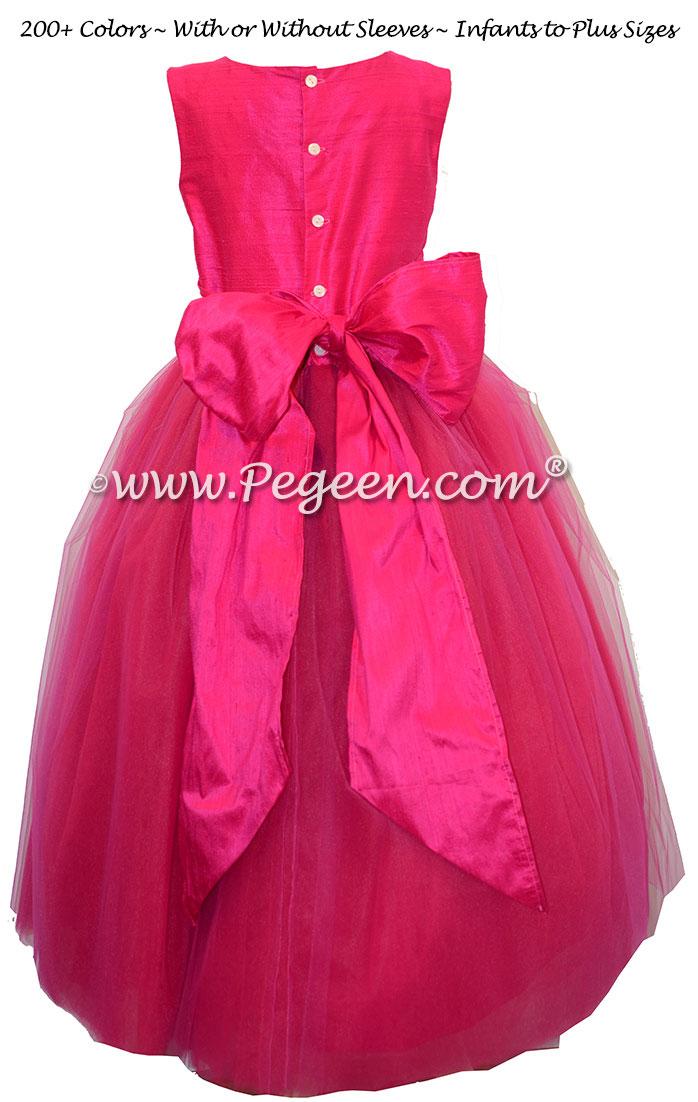 Boing Hot Pink  ballerina style Flower Girl Dresses