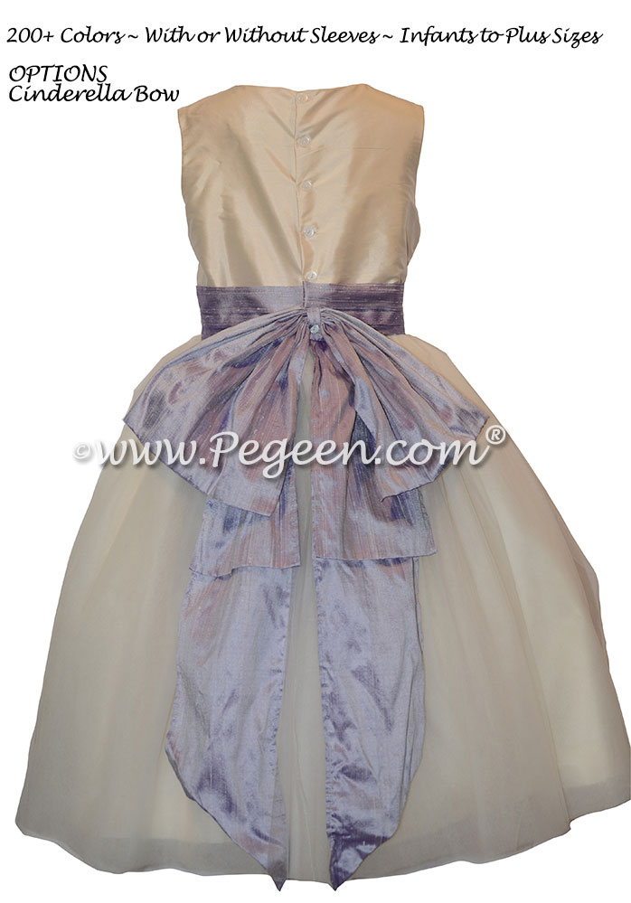 Victorian and New Ivory Silk Flower Girl Dresses from Pegeen