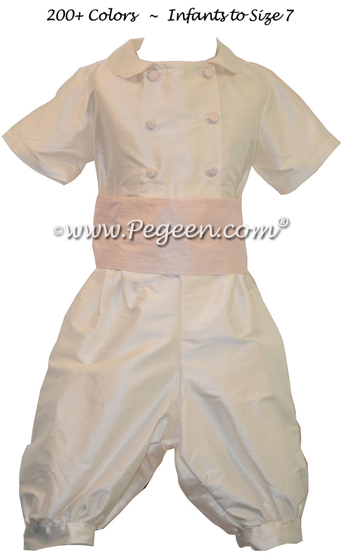 Inventory Ring Bearer suit on sale - ivory and petal pink size 3T