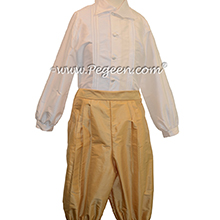 Style 511 Boys Ring Bearer Suit in Spun Gold and Antique White