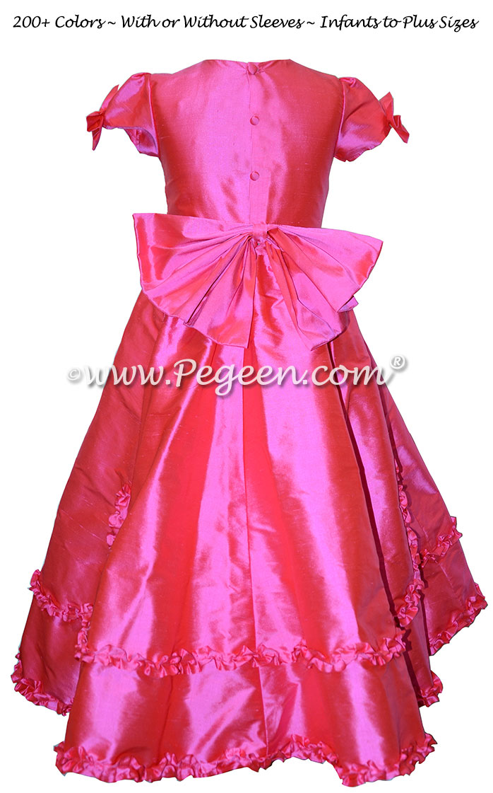 The Mary tudor - Cerise Hot Pink Flower Girl Dresses Style 690