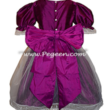 Boisenberry (magenta) and Berry Nutcracker Party Scene Dress Style 703 by Pegeen