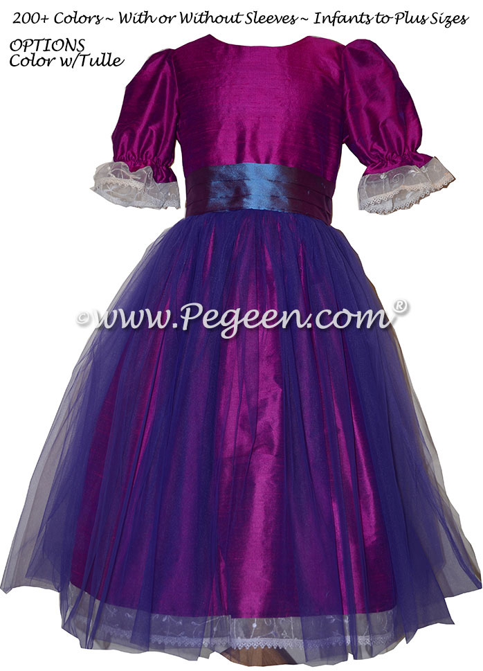 Berry (magenta) and Razzleberry (blue) Nutcracker Party Scene Dress Style 703 by Pegeen