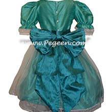 Pacific Blue and Hawaii (teal) Nutcracker Party Scene Dress Style 703 by Pegeen