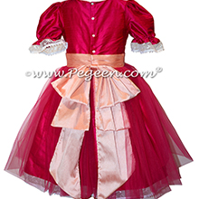 Raspberry Nutcracker Party Scene Dress Style 703 by Pegeen