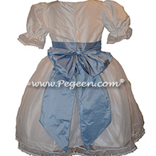 Antique White and Powder Blue Nutcracker Party Scene Dress Style 703 by Pegeen