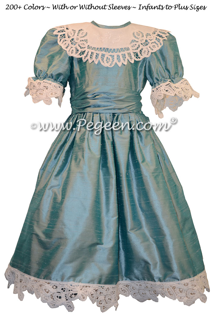 Adriatic Blue Nutcracker Party Scene Dress Style 708 by Pegeen