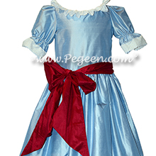 Blue Moon and Cranberry Nutcracker Party Scene Dress Style 708 by Pegeen