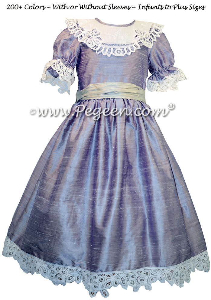 Victorian Lilac and Platinum Gray Nutcracker Party Scene Dress Style 708 by Pegeen