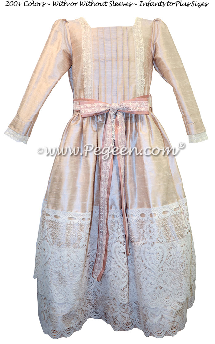 Blush Pink and Lace Clara Nutcracker Party Scene Dress by Pegeen