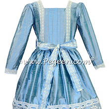Adriatic Blue and Lace Clara Nutcracker Party Scene Dress