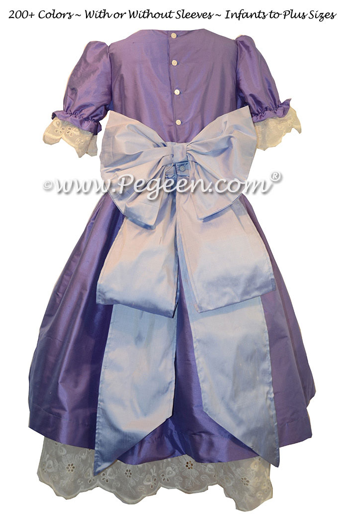 Blueberry and wisteria dress used for the Party Scene Dancers in The Nutcracker