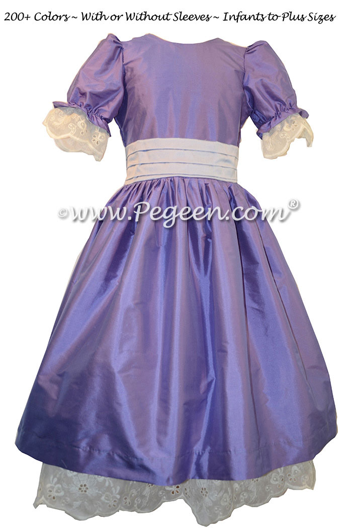 Blueberry and Wisteria Nutcracker Party Scene Dress Style 745 by Pegeen