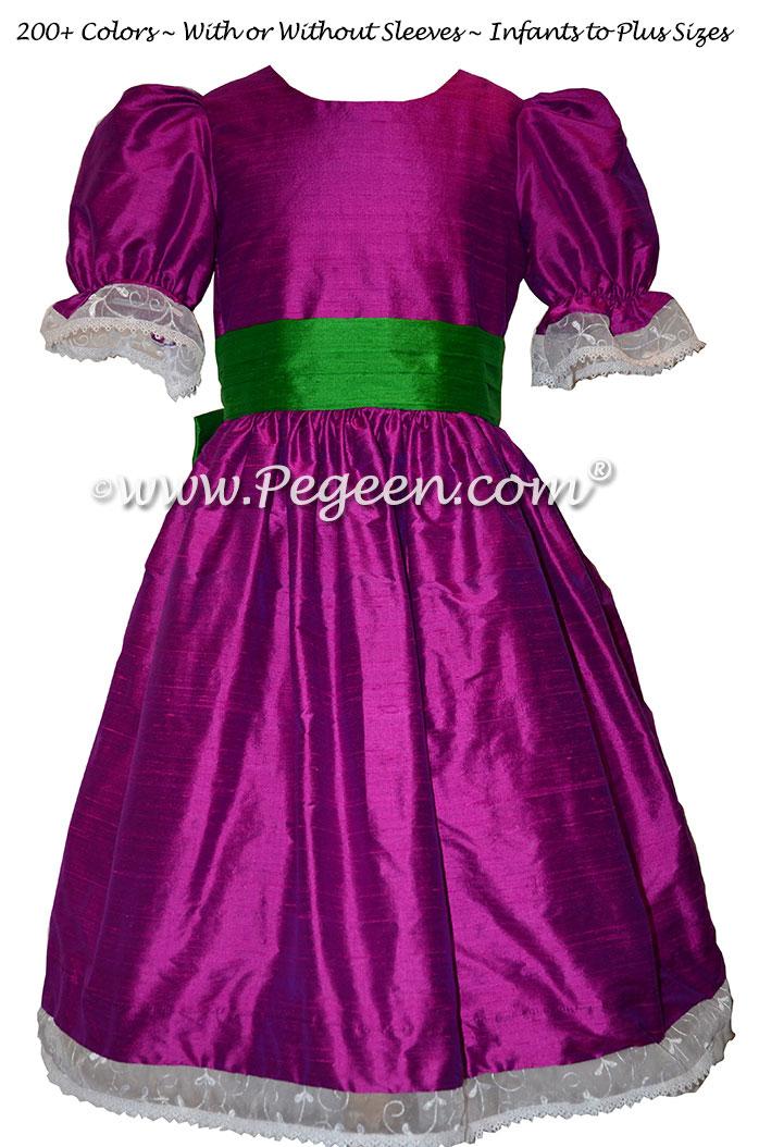 Nutcracker Party Scene Dress in Shamrpock Green and Boysenberry Style 745