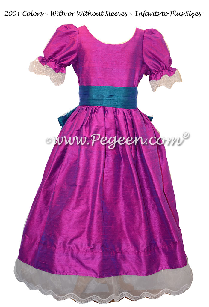Flamingo and Peacock Nutcracker Party Scene Dress Style 708 by Pegeen