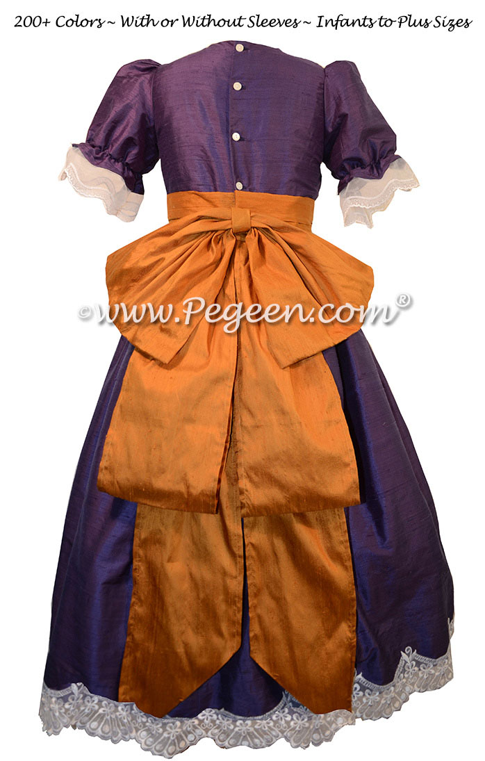 Grape and Papaya Gold Nutcracker Party Scene Dress Style 745 by Pegeen
