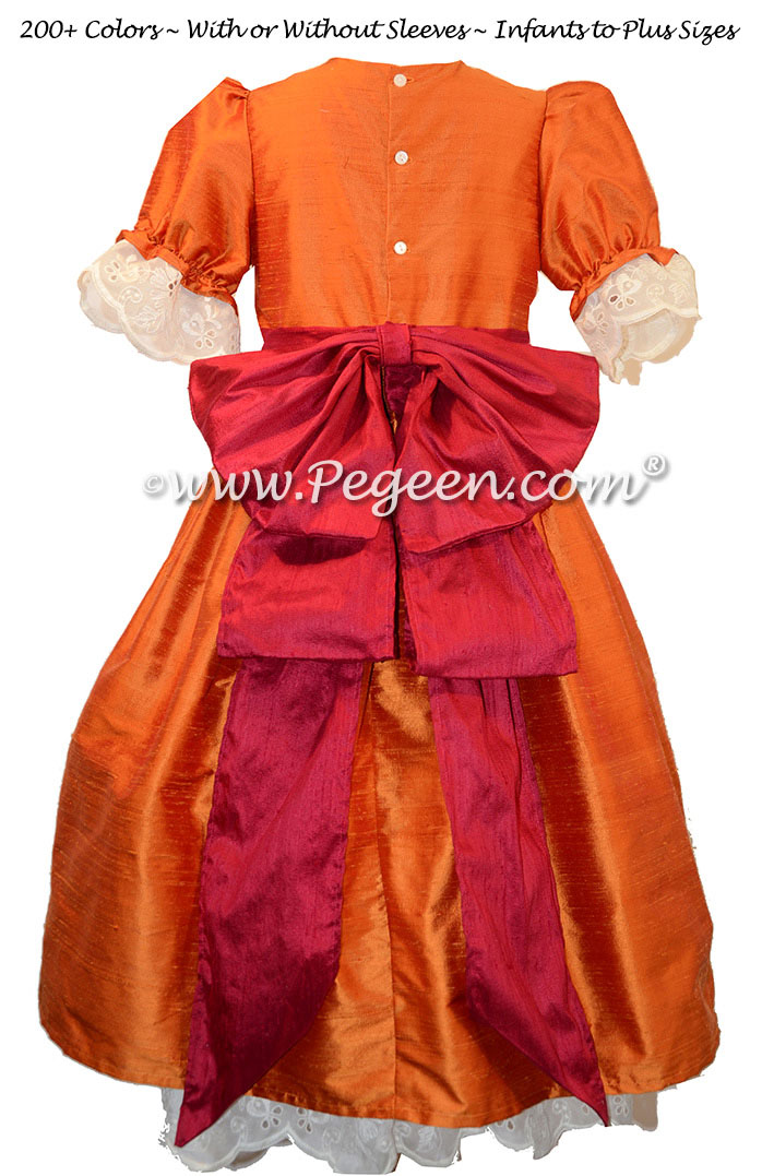Pumpkin and Cranberry Nutcracker Party Scene Dress Style 745 by Pegeen