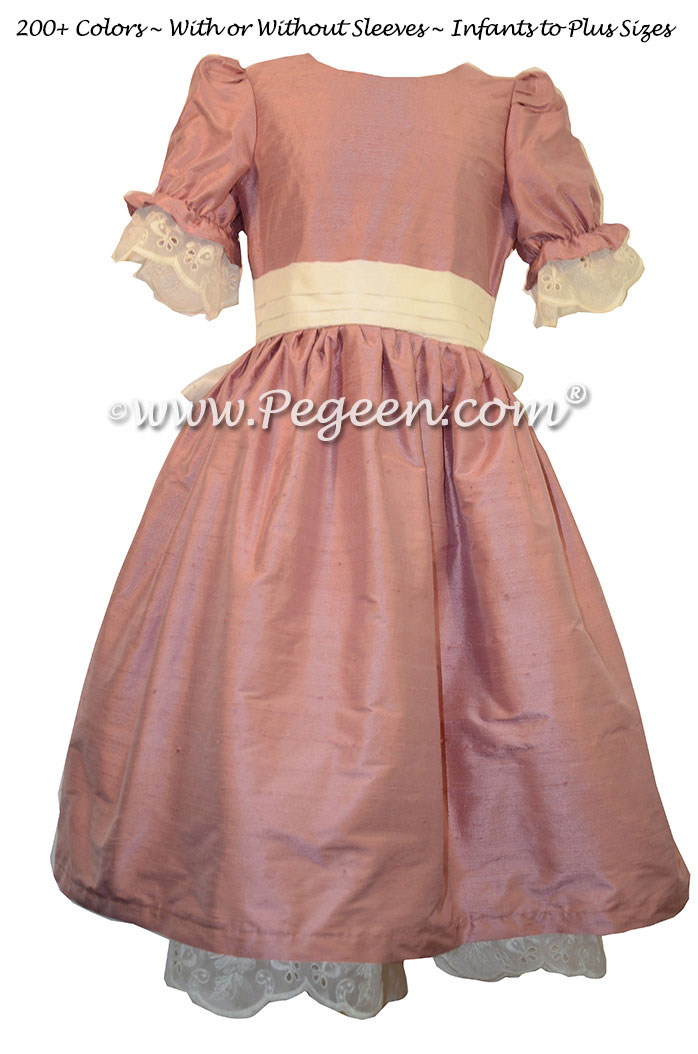 Rum Pink and New Ivory Nutcracker Party Scene Dress Style 745