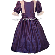 Grape Silk Nutcracker Party Scene Dress Style 751 by Pegeen