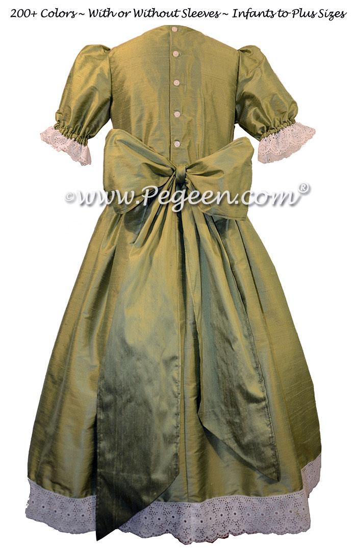 Sage Green Nutcracker Party Scene Dress Style 751 by Pegeen
