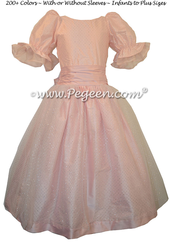 Pink Clara Party Dress for Nutcracker Ballet - Part of the Nutcracker Collection by Pegeen Style 755
