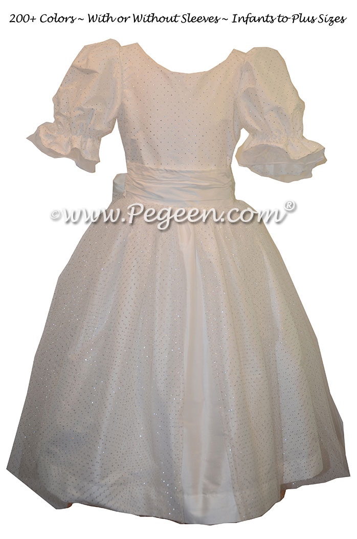 White Silk and Tulle Costume for Clara - Part of the Nutcracker Collection by Pegeen Style 755