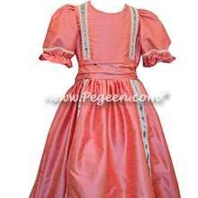 NUTCRACKER PARTY DRESS in Coral Rose