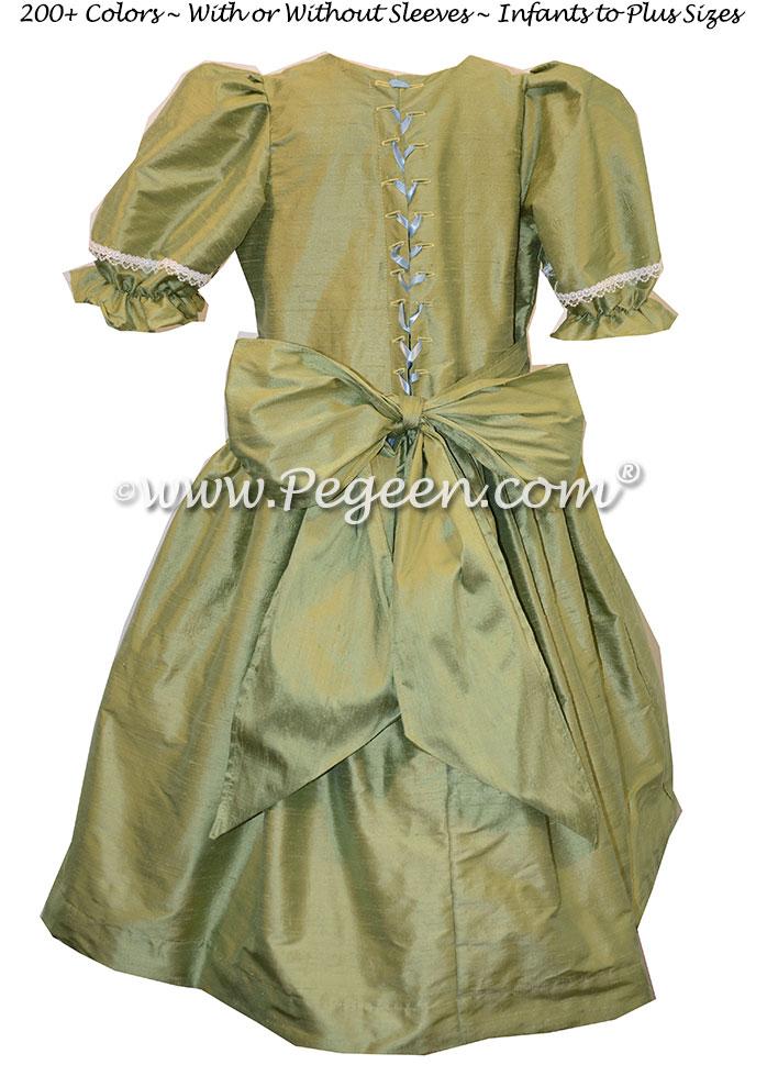 Sage Green Nutcracker Party Scene Dress by Pegeen Style 760