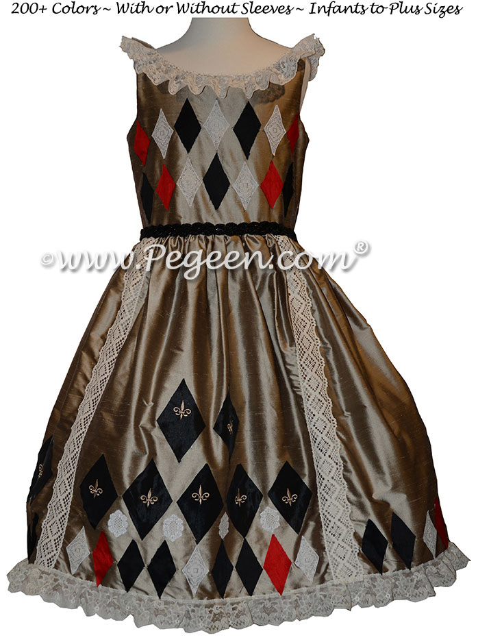 Harlequin Nutcracker Dress Style 782 by Pegeen