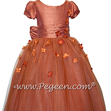 Flower Girl Dress Style 900 - Earth Fairy from the Fairytale  Collection in Autumn Rust