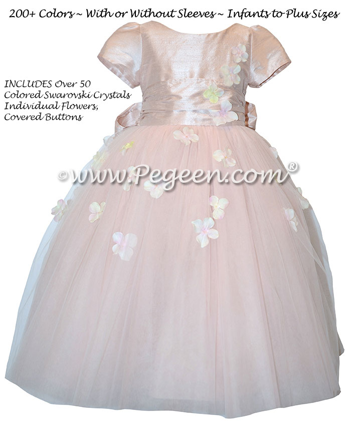 Flower Girl Dress Style 911 - Earth Fairy from the Fairytale  Collection in Ballet Pink