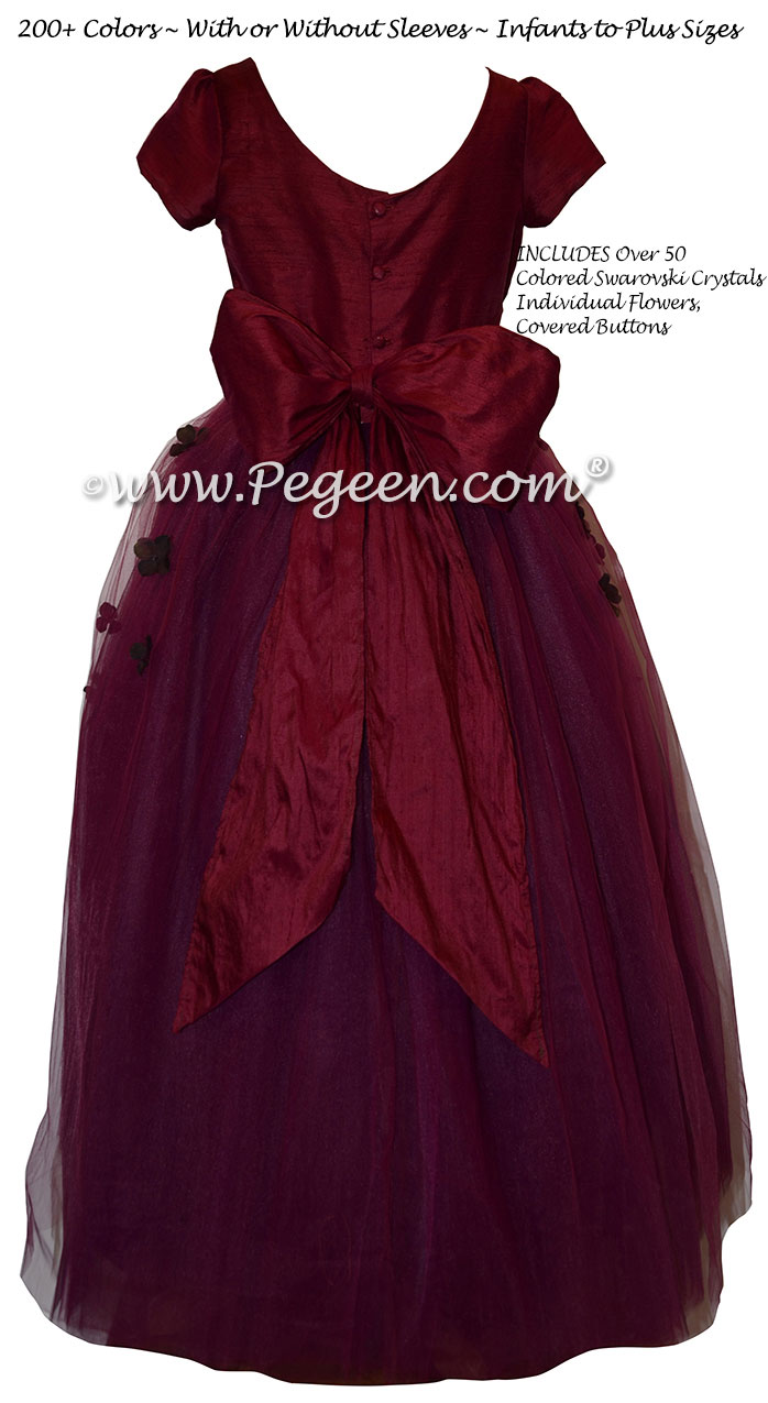 Flower Girl Dress Style 911 - from the Fairytale  Collection in Eggplant | Pegeen