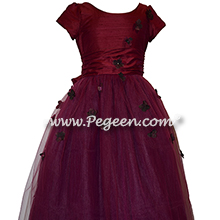 Flower Girl Dress Style 900 - Earth Fairy from the Fairytale Collection in Eggplant