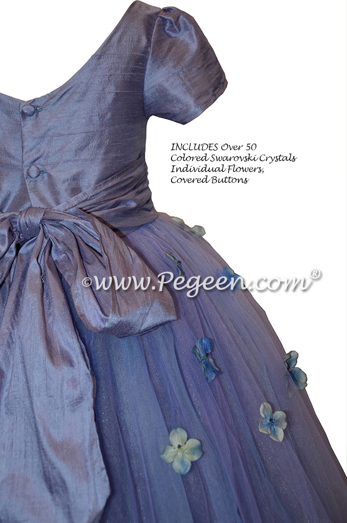 Flower Girl Dress Style 911 - Earth Fairy from the Fairytale Collection in Periwinkle | Pegeen