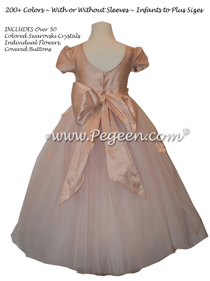Blush Pink tulle flower girl dress from the Fairy Tale Collection