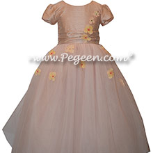 Flower Girl Dress Style 900 - Earth Fairy from the Fairytale Collection in Peach