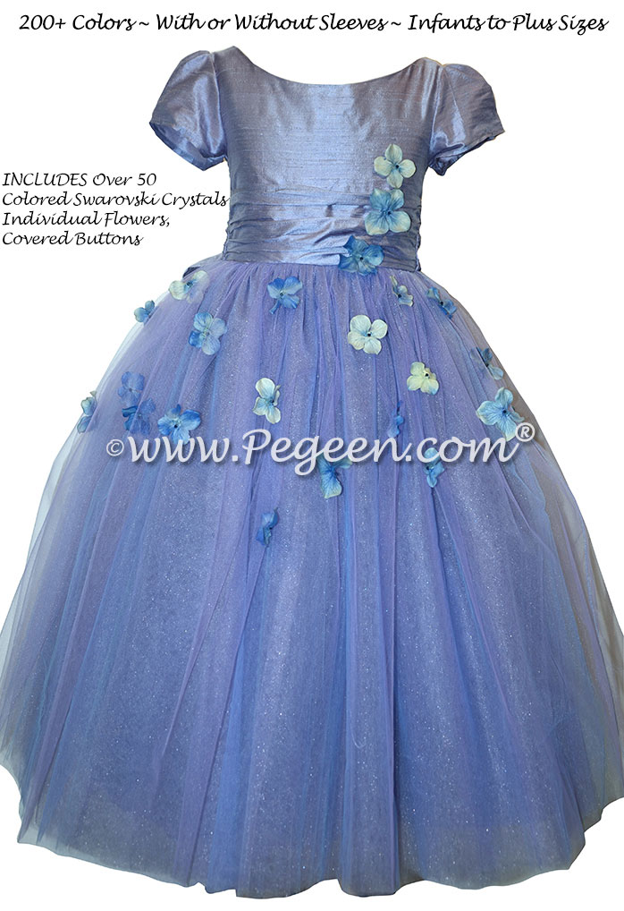 db13e5abe5d ... Flower Girl Dress Style 911 - Earth Fairy from the Fairytale Collection  in Periwinkle