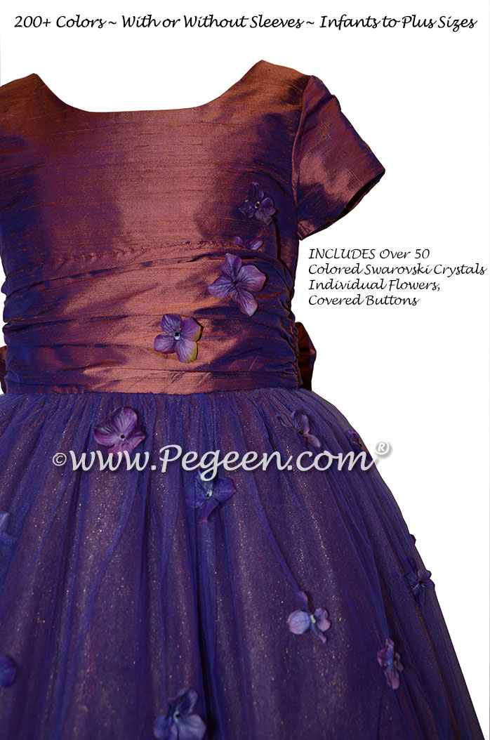 Flower Girl Dress Style 911 - Earth Fairy from the Fairytale Collection in Raisin (Copper) | Pegeen