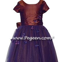 Flower Girl Dress Style 900 - Earth Fairy from the Fairytale Collection in Raisin (Copper Purple)