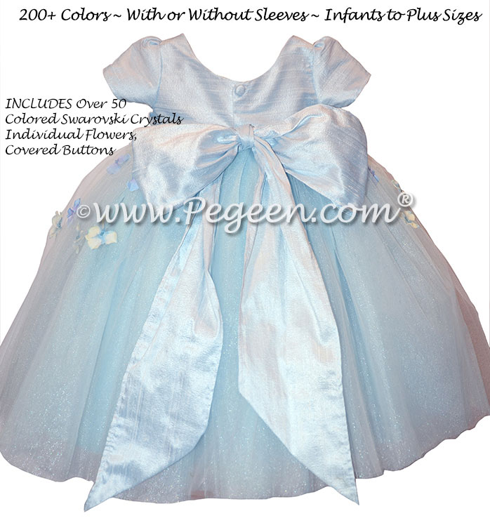 Flower Girl Dress Style 911 - Earth Fairy from the Fairytale Collection in Steele Blue | Pegeen