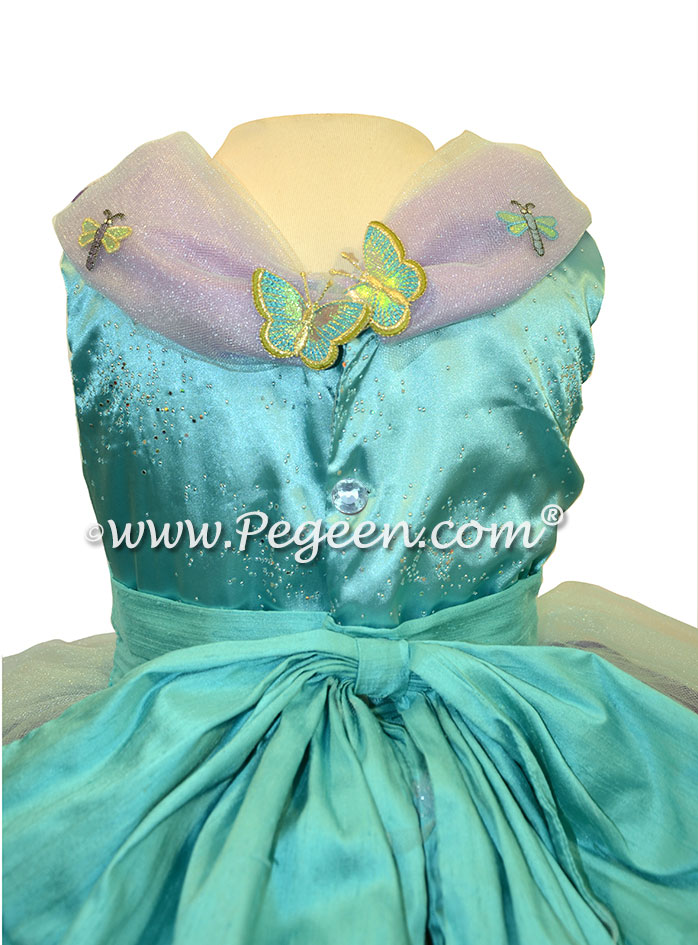 Flower Girl Dress Turquoise and Purple Shades - Cinderella Princess | Pegeen